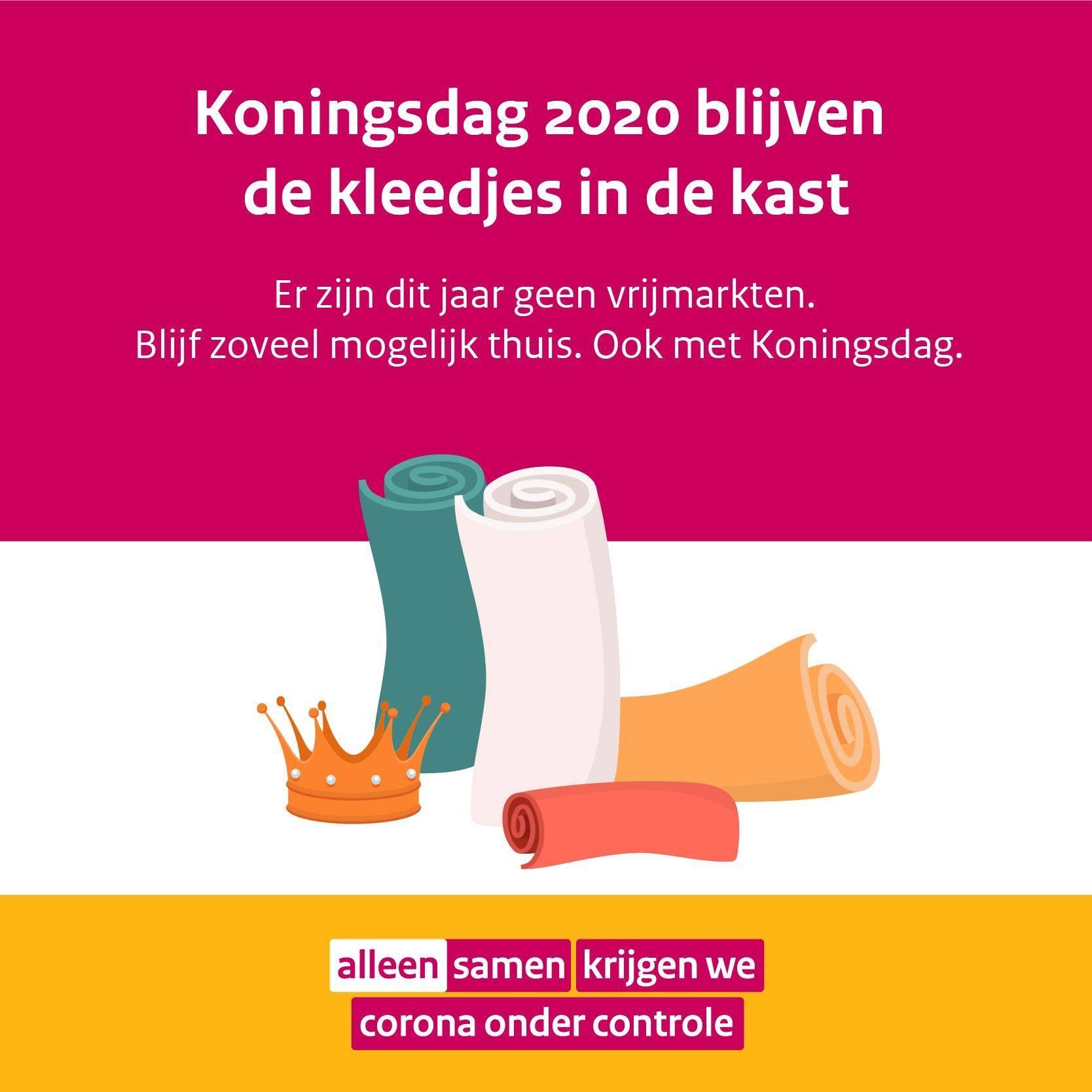 Nederland viert Koningsdag zoveel mogelijk thuis