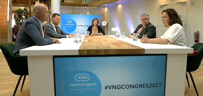 Talkshow VNG jaarcongres 2021: gemeenten en de actualiteit